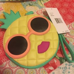 Quilted Sunglasses Pineapple Kitschy Coin Purse